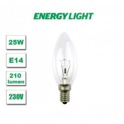 10 sztuk Żarówka tradycyjna  E14 świeczka 25W Energy Light