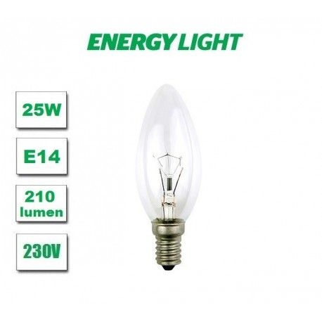 Żarówka tradycyjna  E14 świeczka 25W Energy Light