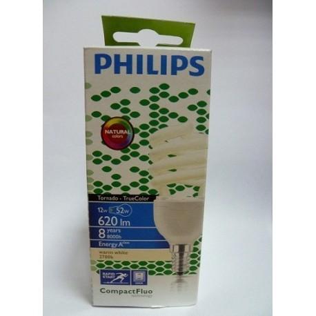 Philips świetlówka spiralna TORNADO E14 12W