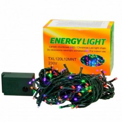 Lampki choinkowe LED 120 żarówek 12m multicolor TXL120L12MNT gruby kabel