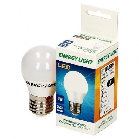Żarówka LED kuleczka 5W Energy Light E27 kulka  4W TA27GM05ciepła b. 370lm