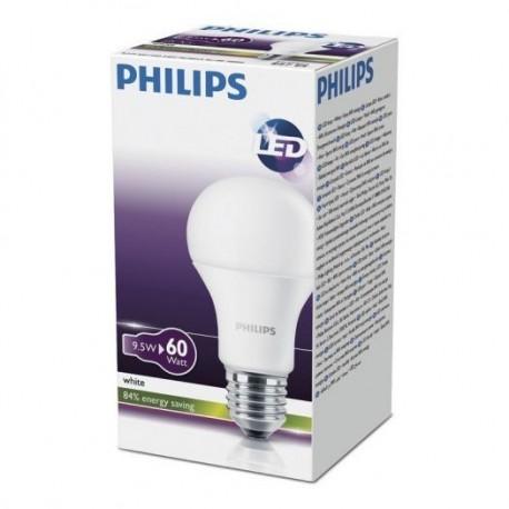 Żarówka LED  PHILIPS E27   (duży gwint)   9,5W odpowiednik 60 W / barwa ciepła / 806 lumenów
