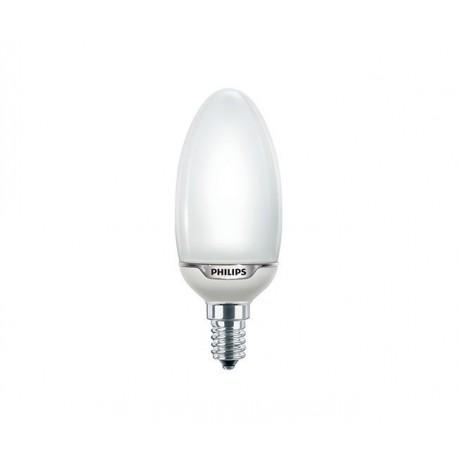 Philips świetlówka Softone E14  8W świeczka